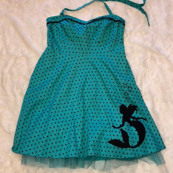 73ea50268f8 NWT Torrid Disney Little Mermaid Pin-up Dress Sz22